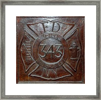 9 11 01 F D N Y 343 Framed Print by Rob Hans