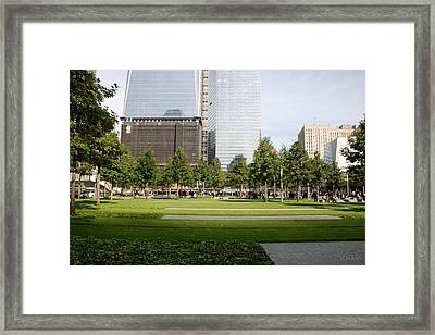 9/11 Grass Framed Print by Rob Hans