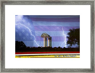 9-11 We Will Never Forget 2011 Poster Framed Print by James BO  Insogna