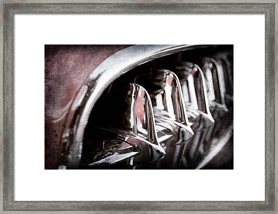 1957 Chevrolet Corvette Grille Framed Print by Jill Reger