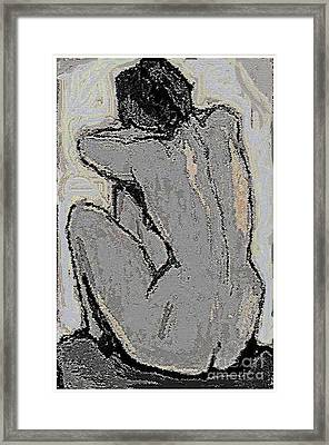 Alone With Grief Framed Print by Pemaro