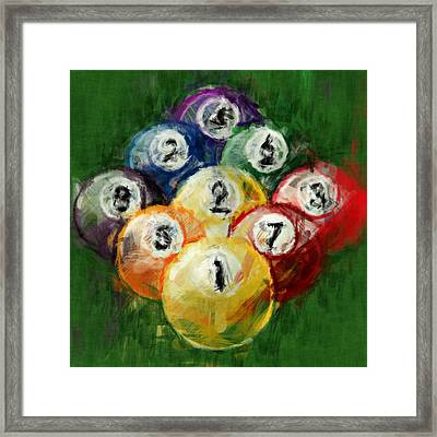9 Ball Rack Abstract Framed Print by David G Paul