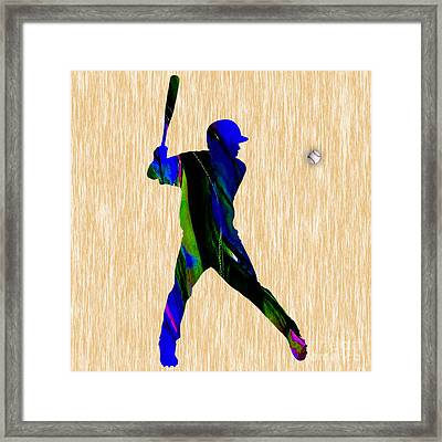 Baseball Framed Print by Marvin Blaine