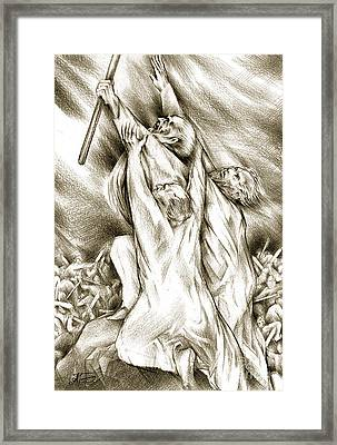 Biblical Illustration Framed Print by Alex Tavshunsky