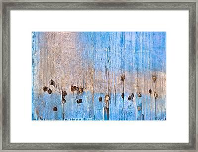 Blue Wood Framed Print by Tom Gowanlock