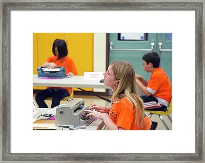 Braille Competition Framed Print by Jim West