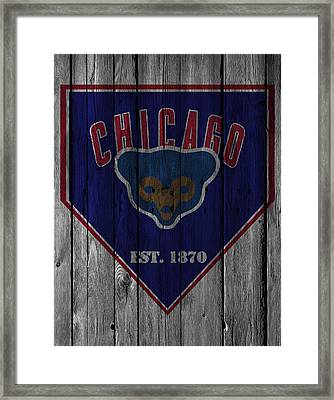 Chicago Cubs Framed Print by Joe Hamilton