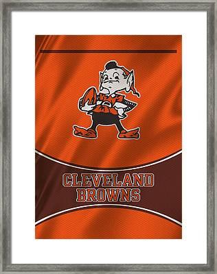 Cleveland Browns Uniform Framed Print by Joe Hamilton