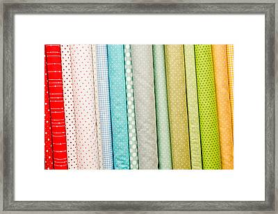 Fabric Background Framed Print by Tom Gowanlock