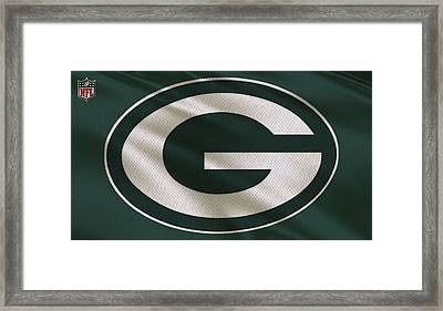 Green Bay Packers Uniform Framed Print by Joe Hamilton