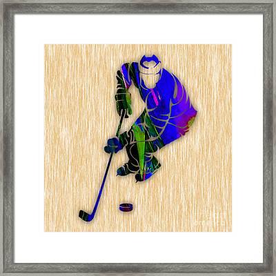 Hockey Framed Print by Marvin Blaine