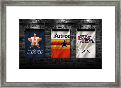 Houston Astros Framed Print by Joe Hamilton