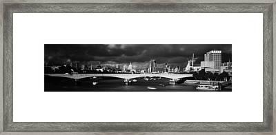 London  Skyline Waterloo  Bridge  Framed Print by David French