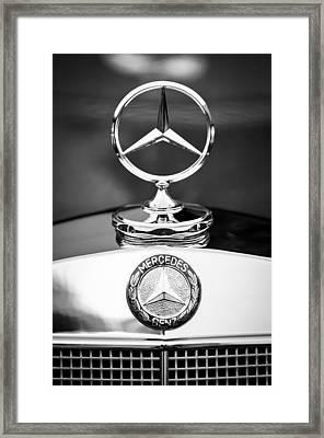Mercedes-benz Hood Ornament Framed Print by Jill Reger