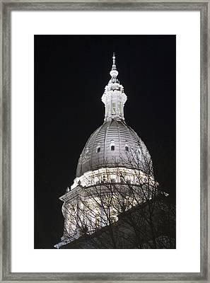 Michigan Capital Framed Print by Gary Marx
