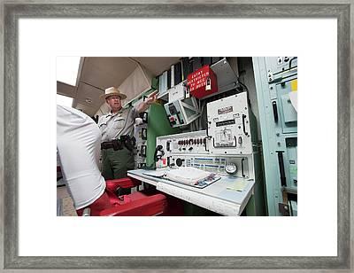 Minuteman Missile Control Room Framed Print by Jim West