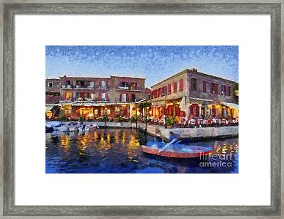 Molyvos Town In Lesvos Island Framed Print by George Atsametakis