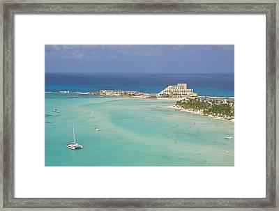 North Beach, Isla Mujeres Framed Print by Victor Elias