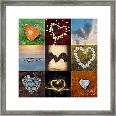 9 Of Hearts Framed Print by Tim Gainey