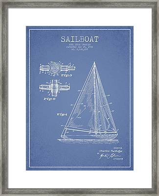 Sailboat Patent Drawing From 1938 Framed Print by Aged Pixel