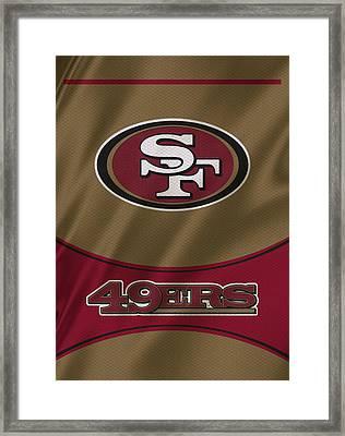San Francisco 49ers Uniform Framed Print by Joe Hamilton