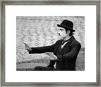 9 - Show Time - French Mime Framed Print by Nikolyn McDonald