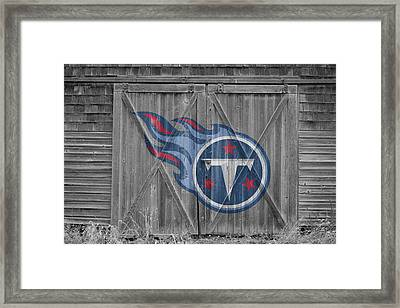 Tennessee Titans Framed Print by Joe Hamilton