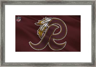 Washington Redskins Uniform Framed Print by Joe Hamilton