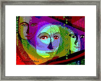 905 - Certain Glance In Her Eyes  Framed Print by Irmgard Schoendorf Welch