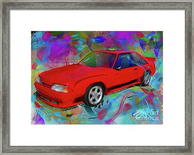 93 Mustang Framed Print by Donald Pavlica