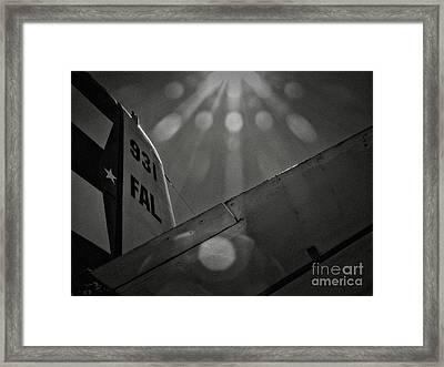 931 Illuminated Flight Framed Print by Adrian Tavano