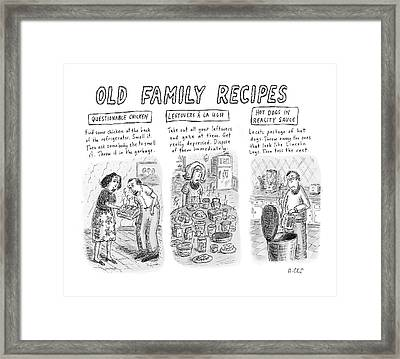 Untitled Framed Print by Roz Chast
