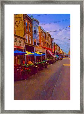 9th Street Italian Market Philadelphia Rendering Framed Print by Bill Cannon