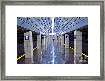 9th Street Station Framed Print by Marco Crupi