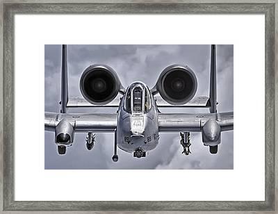 A-10 Thunderbolt II Framed Print by Adam Romanowicz