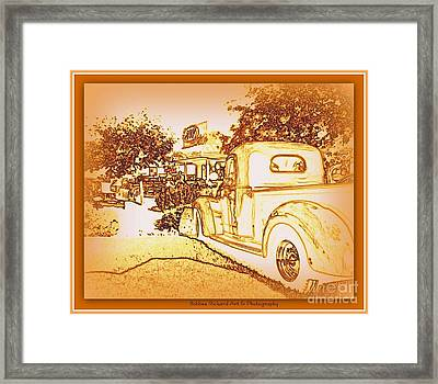 A And W Drive In Framed Print by Bobbee Rickard