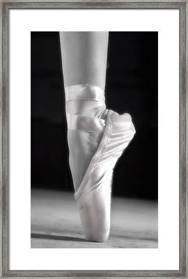 A Ballet Slipper Framed Print by Don Hammond