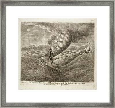 A Balloon In Danger At Sea Framed Print by British Library