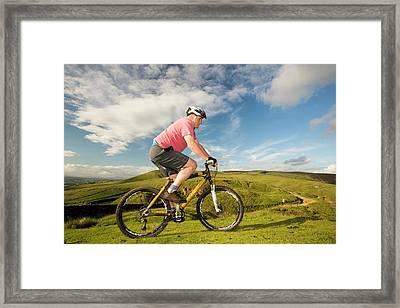 A Bamboo Frame Bike Framed Print by Ashley Cooper