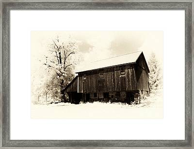 A Barn Of Old Framed Print by Paul W Faust -  Impressions of Light