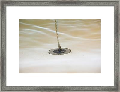 A Bath Plug Underwater Framed Print by Ashley Cooper