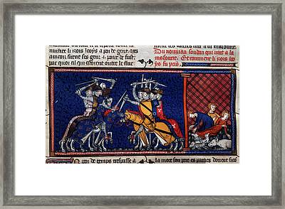 A Battle; Pestilence Framed Print by British Library