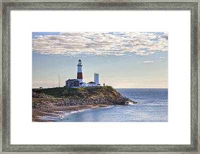 A Beacon On The Hill Framed Print by Mike Lang