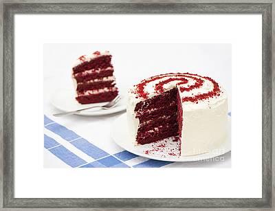A Big Red Cake Framed Print by Anne Gilbert