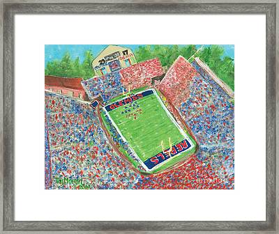 A Big Win In Oxford Ole Miss Alabama Game Framed Print by Tay Morgan