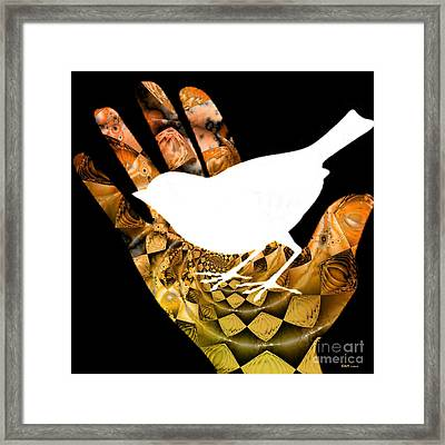 A Bird In The Hand Is Worth Two In The Bush  Framed Print by Elizabeth McTaggart