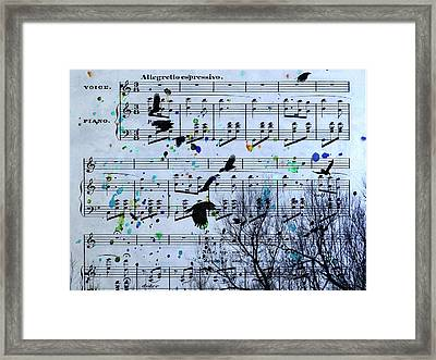 A Melody Of Blackbirds Framed Print by Gothicolors Donna Snyder