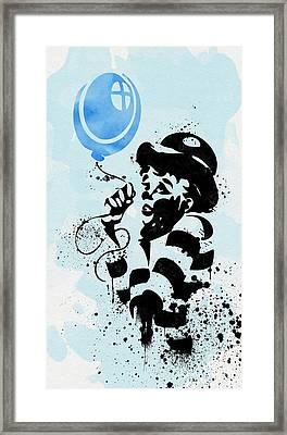 A Blue Balloon Framed Print by Olga Hamilton