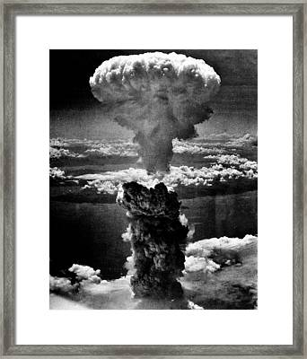 A-bomb Framed Print by Benjamin Yeager