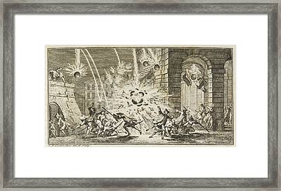 A Bombardment Framed Print by British Library